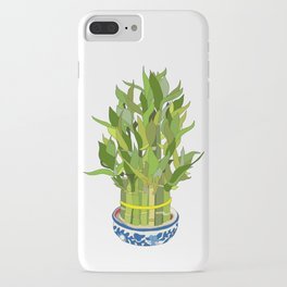 Lucky Bamboo in Porcelain Bowl iPhone Case