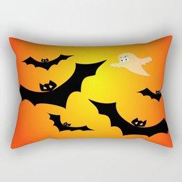 Bats and a Ghost Rectangular Pillow