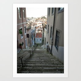Lisbon stairs Art Print