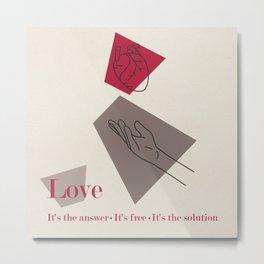Love: Classic Metal Print