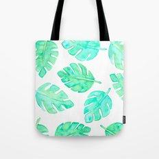 Watercolor Tropical Leaves Tote Bag