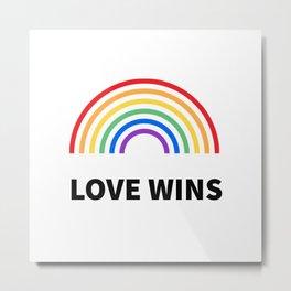 LOVE WINS LGBTQ pride Metal Print