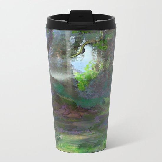 Elven Forest Metal Travel Mug