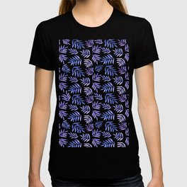 Watercolor branches pattern - lilac T-shirt