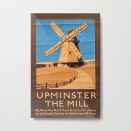 Upminster the Mill Vintage Travel Poster Metal Print