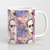 hunter s thompson Mugs featuring Hunter S. Thompson by victorygarlic