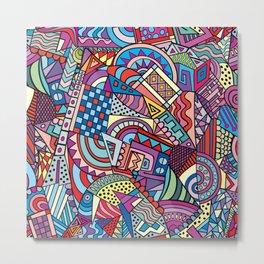 Colorful ethno pattern design Metal Print