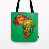 africa Tote Bags featuring Africa by RicoMambo