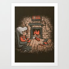 A Hard Winter Art Print