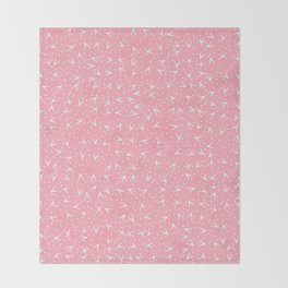 Preppy Peach Dots and Triangles Pattern Throw Blanket