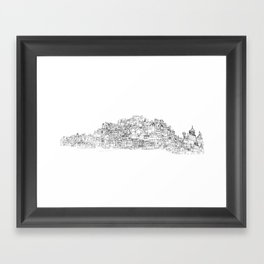 Panoramic Drawing of Brighton Framed Art Print