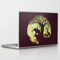 jungle Laptop & iPad Skins featuring The jungle says hello by Picomodi