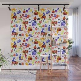 Watercolor Tutti Frutti Wall Mural