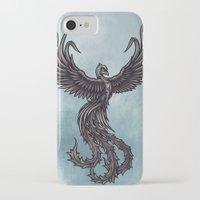 phoenix iPhone & iPod Cases featuring Phoenix by Texnotropio