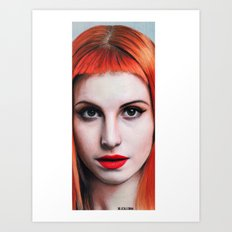 Hayley Williams Drawing Art Print
