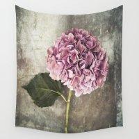 hydrangea Wall Tapestries featuring Hydrangea  by Maria Heyens