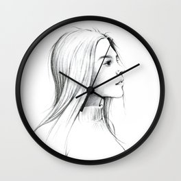Girl with Nose Pin Wall Clock