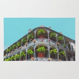 Hanging Baskets of Royal Street, New Orleans Rug