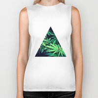 weed Biker Tanks featuring Smoke Weed by Lyre Aloise