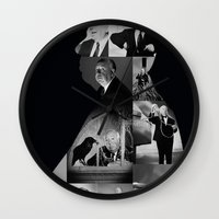 hitchcock Wall Clocks featuring Hitchcock by tycejones