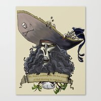 monkey island Canvas Prints featuring Le Chuck from Monkey Island by Sara E. Snodgrass