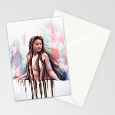 Beside the Wall She Stood Stationery Cards