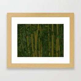 Bamboo jungle Framed Art Print