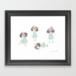 Funny child Framed Art Print