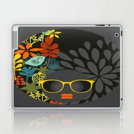 Afro Diva : Sophisticated Lady Gray Laptop & iPad Skin