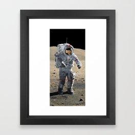 The Last Man on the Moon Framed Art Print
