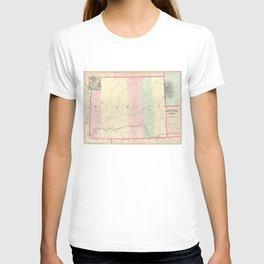 Vintage Map of Wyoming (1874) T-shirt