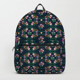 Floral garden Repeat Pattern Illustrated Print Backpack