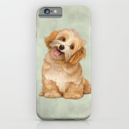Smiling Dog (Havanese) iPhone Case