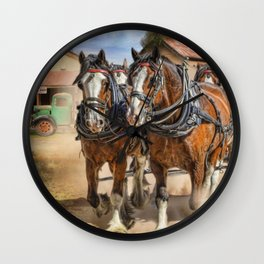 Heading For Home Wall Clock