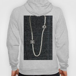 vintage pearls necklace Hoody