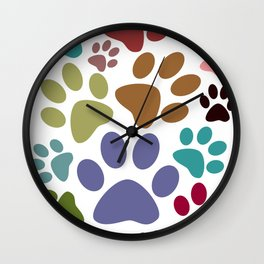 Hairy Footprints Wall Clock
