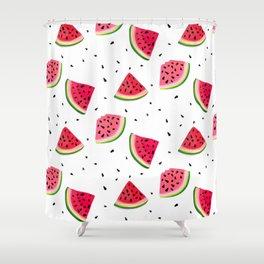 Watermelon slices Shower Curtain