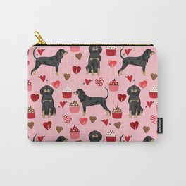 Coonhound love cupcakes hearts valentines day cute dog breed gifts for coonhounds Carry-All Pouch