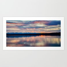 EVENING GLORY Art Print