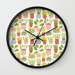 Tiny Plants Wall Clock