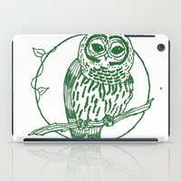 coasters iPad Cases featuring Forest Lover's Owl by KimberlyVautrin