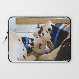 Pair of black and white cows 1 Laptop Sleeve