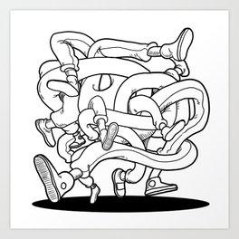 Run boy run Art Print
