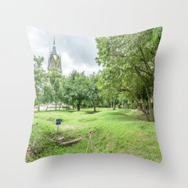 The Killing Fields and Stupa, Cambodia Throw Pillow