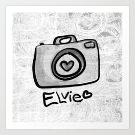 Camera Elvie Art Print