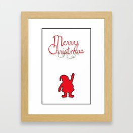 Merry Christmas with Santa and black borders Framed Art Print