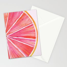 Sunny Grapefruit Watercolor Stationery Cards