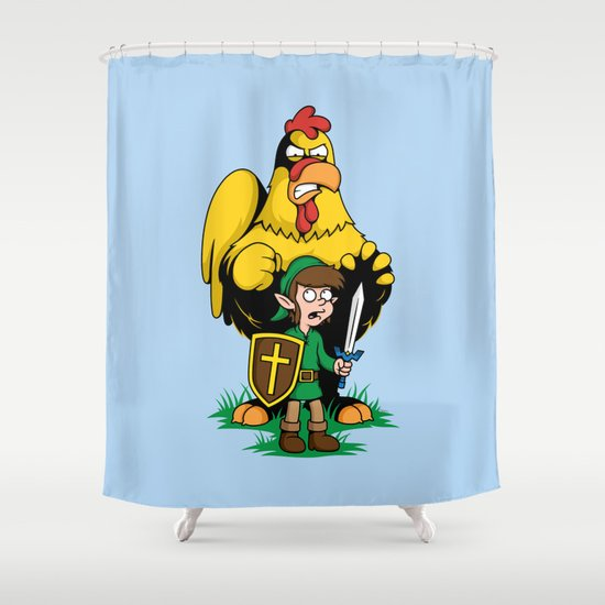 The Legend of Ernie (light background) Shower Curtain