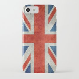 British flag of the UK, retro style iPhone Case