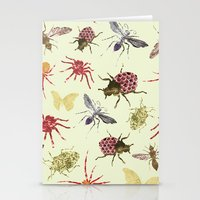 insects Stationery Cards featuring Insects by Stag Prints